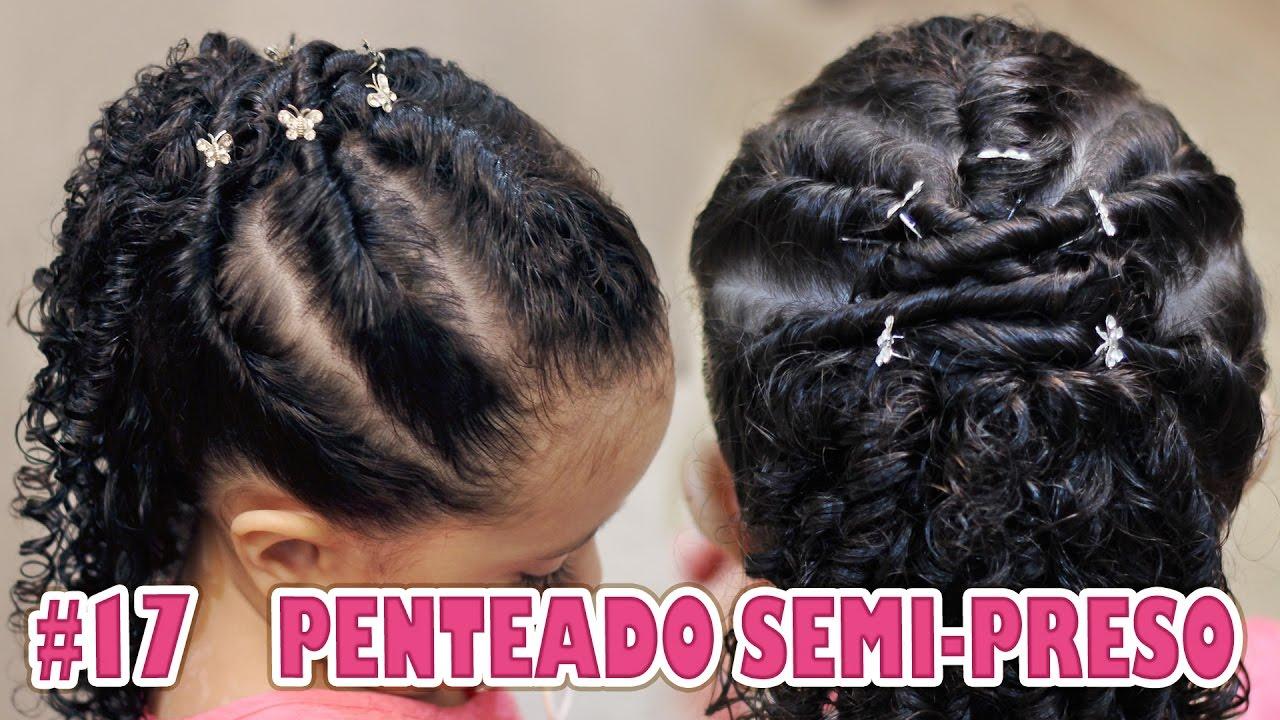 Penteado Infantil Semi Preso Muito Fácil Cabelos Cacheados 17 Especial Páscoa