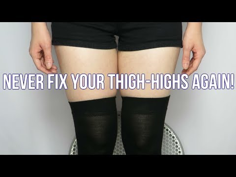 How To Keep Your Thigh-High Stockings In Place