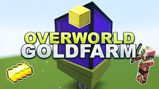 Minecraft - Overworld Gold Farm - Tutorial 1.11