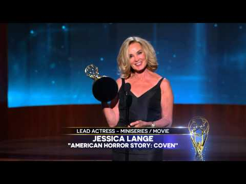 Jessica Lange Wins for Lead Actress In A Miniseries Or A Movie