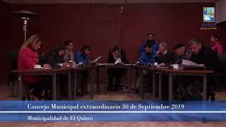 Concejo Municipal extraordinario autoconvocado 30 de Septiembre 2019