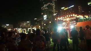 (大阪市内)天王寺区 てんしば盆踊り大会 ラストはやっぱりUSA!