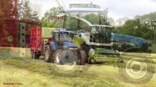 Fell Silage - Second Cut with Claas Jaguar 940.