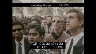 Hyde Park In London In The 1960's.  Archive Film 91573