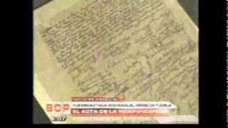 BUENOS DIAS PERU 28/07/2010 EL ACTA DE LA INDEPENDENCIA