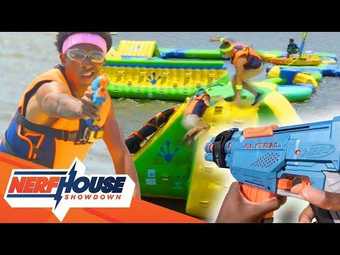 NERF Game | NERF Water Park Battle | Episode 3 | NERF House Showdown | NERF Battle Royale |