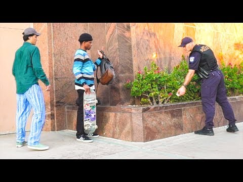 SECURITY SCARED TO KICK OUT SKATERS?!