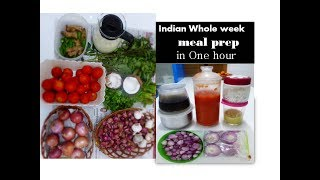 WHOLE WEEK MEAL PREP in ONE HOUR [Indian ] | For working women & bachelors|deeps kitchen