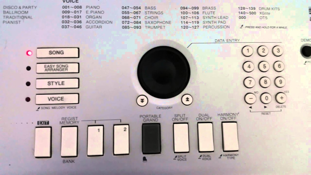 Yamaha DGX-520 Piano Digital