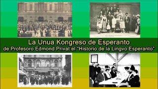 La Unua Kongreso de Esperanto de Prof  Edmond Privat