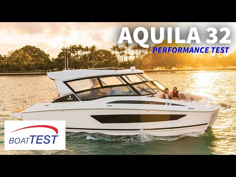 Aquila 32 (2019-) Test Video - By BoatTEST.com