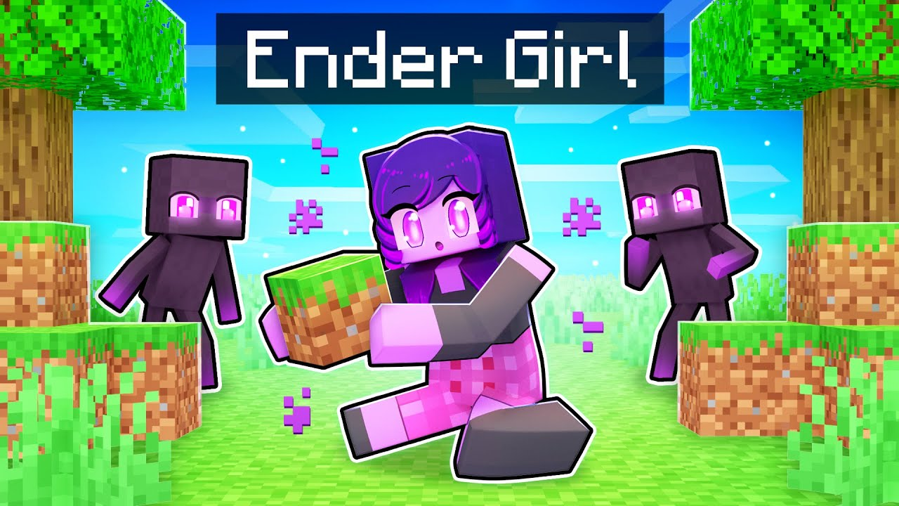 Download Playing as an ENDER Girl In Minecraft!