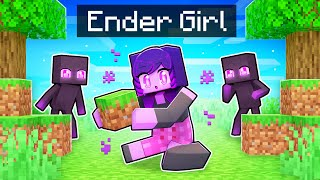 Playing as an ENDER Girl In Minecraft!