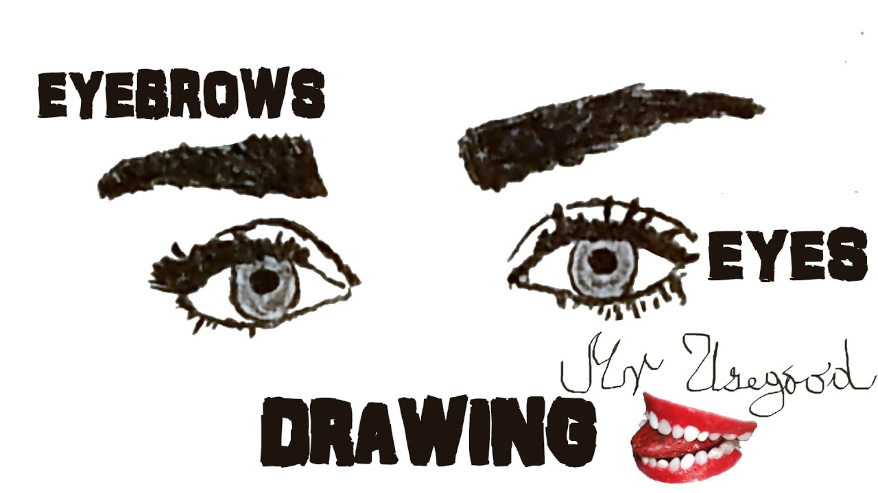 How to Draw Realistic Female EYES and EYEBROWS Step by ...