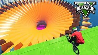 GTA V Online: SKILL TEST NO FÚNIL EXTRA BIG com BMX!!! (DIFERENTE)