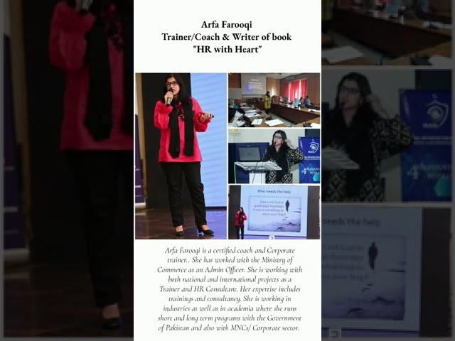 Trainer & HR Consultant Arfa Farooqi