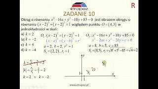 Skala jednokładności dwóch okręgów - klasyk maturalny (Kurs Matura Rozszerzona eTrapez)