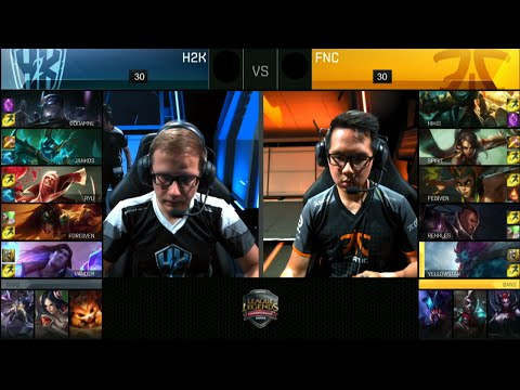 Fnatic vs H2K Gaming | Game 3 Quarter Finals S6 EU LCS Summer 2016 PlayOffs | FNC vs H2k G3 QF 1080p