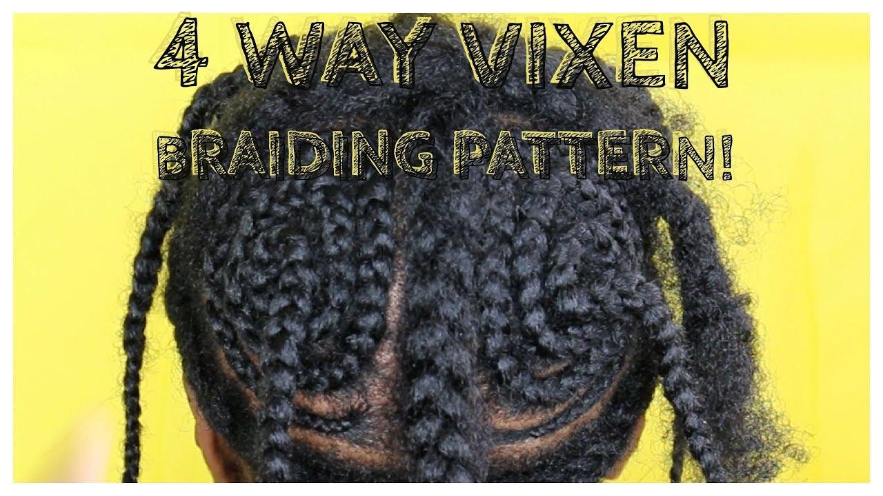 How To 4 Way Vixen Crochet Braiding Pattern Youtube