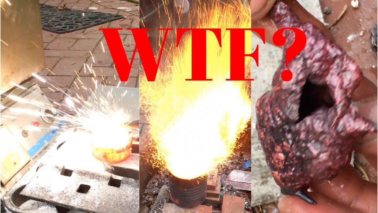 backyard metal casting gone wrong youtube