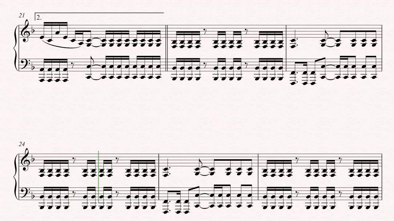 Piano Never Too Late Three Days Grace Sheet Music Chords
