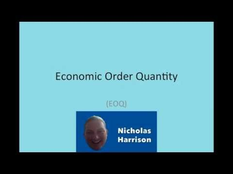 EOQ Calculation in 5 min. How to Calculate Economic Order Quantity Model or EOQ Model