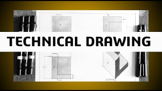 Hi! In this video we are going to learn how to draw a part, starting from the materials needed: T-square. Set-squares. 60 degrees and 30 degrees. Ruler. Pencil.