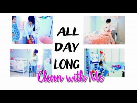 Whole House Clean with Me | Clean With Me All Day Long | Cleaning Music