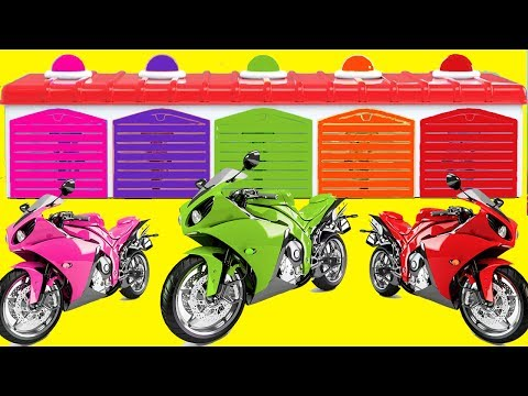 Thumbnail: Learn Color Motorbike Vs Motorcycle 3D for kids Learning Videos for Children Nursery Rhymes
