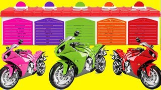 Learn Color Motorbike Vs Motorcycle 3D for kids Learning Videos for Children Nursery Rhymes