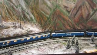 The Glacier Line BIG SKY BLUE!!!  K-Line Passenger Cars!