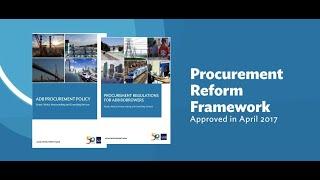 New ADB Policy Aims to Modernize Procurement