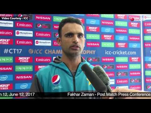 Fakhar Zaman - Post Match Press Conference, Pakistan vs Sri Lanka, Match 12, June 12, 2017