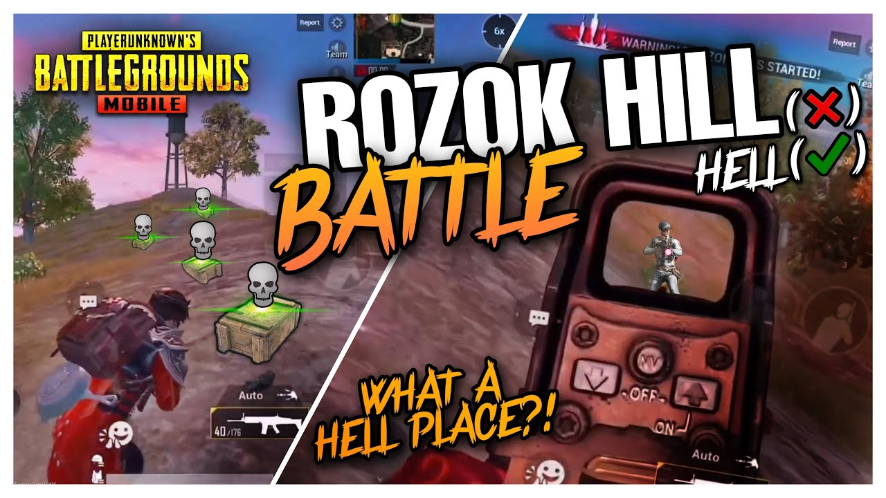 Rozok Hill(x) Rozok Hell(o)   Insane Squad Wiping at the ROZOK - PUBG MOBILE