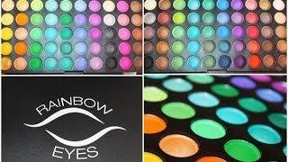 Rainbow eyes-paleta 120 cieni od Allepaznokcie.pl- recenzja