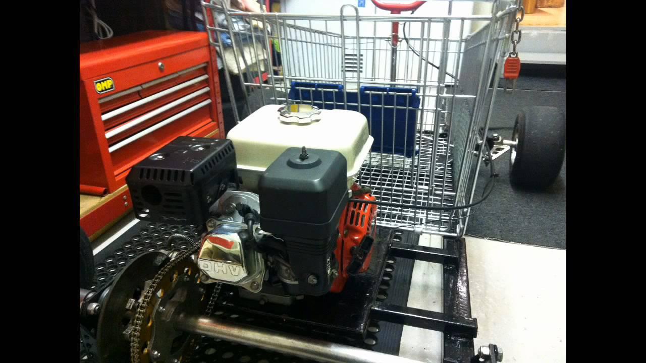Shopping Trolley Go Kart GX160 Gokart, Pictures + Video - YouTube