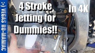4 stroke Jetting - main jet 165 vs 170 vs 180 TEST in UHD 4K