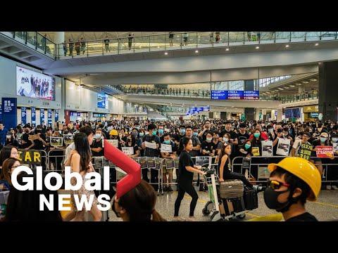 Hong Kong protests take over airport | FULL