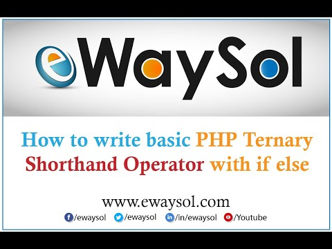 How to write Basic PHP ternary shorthand operator with if else for beginners | eWaySol