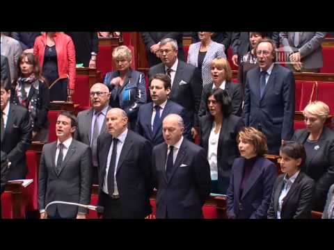 Moment of silence in French assembly followed by La Marseillaise