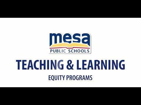 Teaching & Learning- Equity Programs