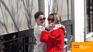 Joey King and Hunter King kick it on sunny day