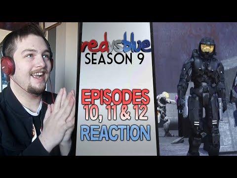 Red vs. Blue Season 9 Episodes 10 - 12 Reaction