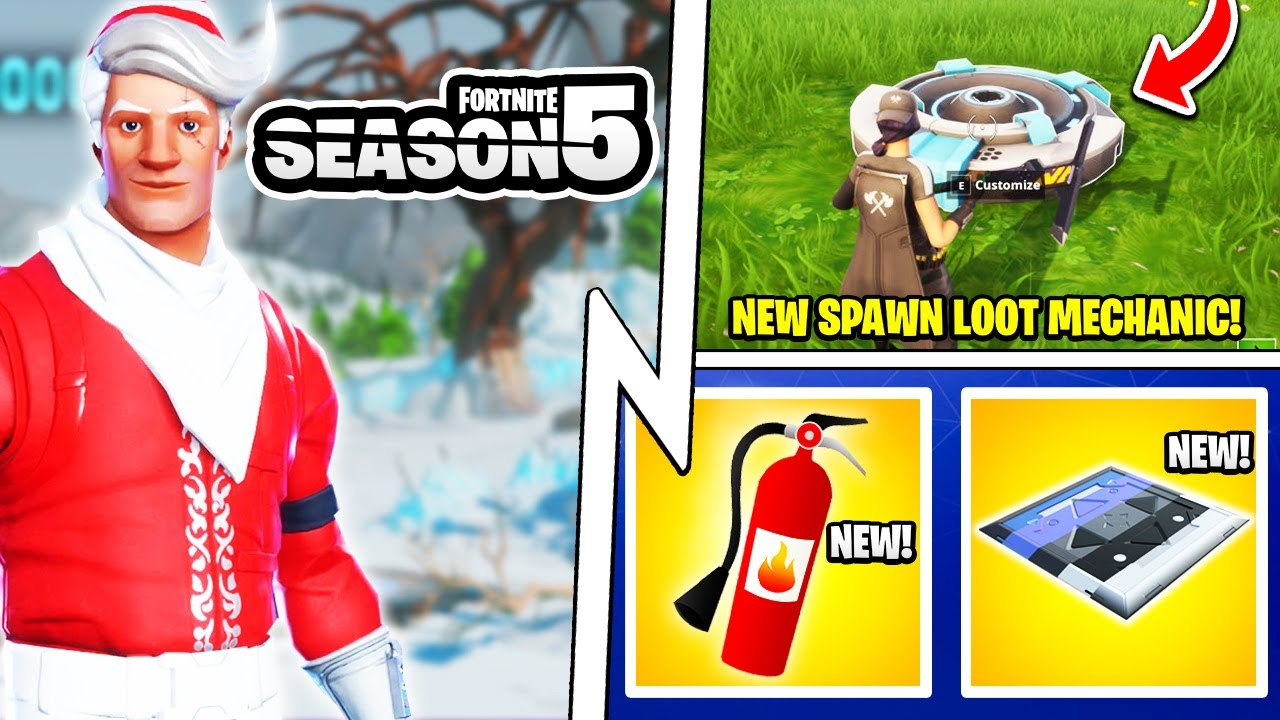 "Season 5 ""Spawn in Loot"" Mechanic, Fire Extinguisher Item, New Vehicle!"