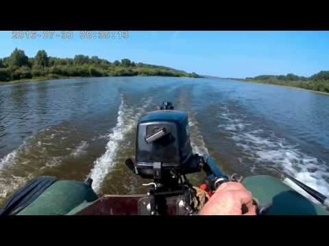 Лодочный мотор HANGKAI 4,  ПВХ лодка Хантер 290,  Тест на скорость 2
