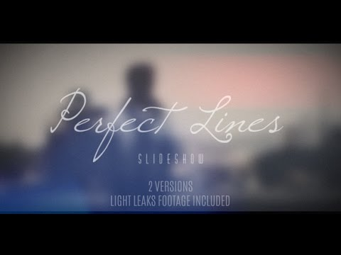 free after effects template - perfect lines slideshow (long) - youtube, Presentation templates