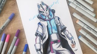 Let's Draw CATALYST skin - Fortnite - Speed Drawing