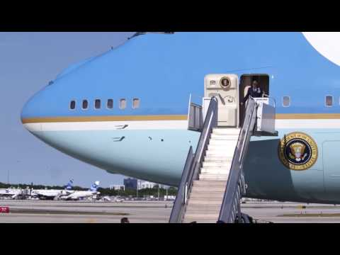 VIDEO: President Trump arrives on Air Force One in Florida