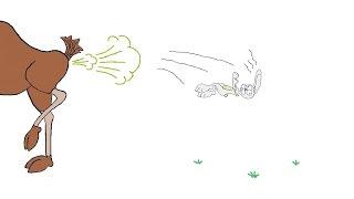 Смешной мультик про лося и зайца