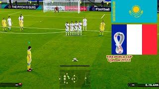 PES 2021 Kazakhstan vs France B Islamkhan Fantastic Free Kick Goal World Cup 2022 Qualification